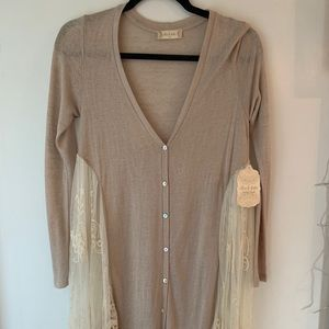 NWT Tan long blouse